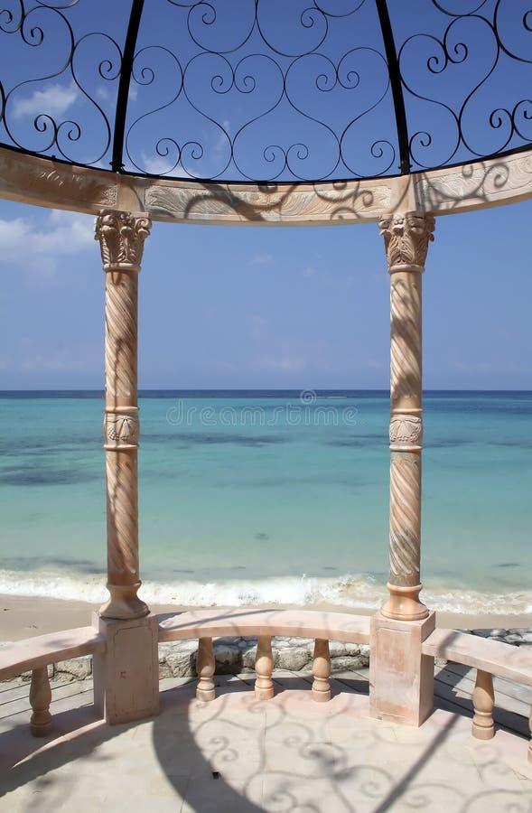 加勒比眺望台 库存图片