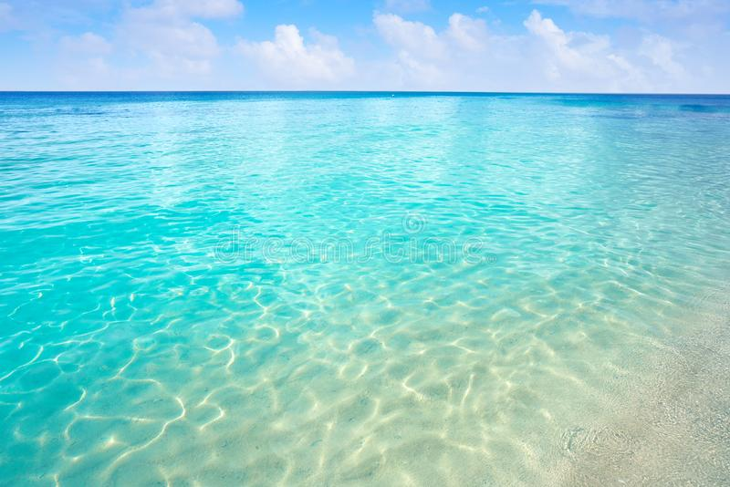 加勒比绿松石海滩净水 免版税库存图片