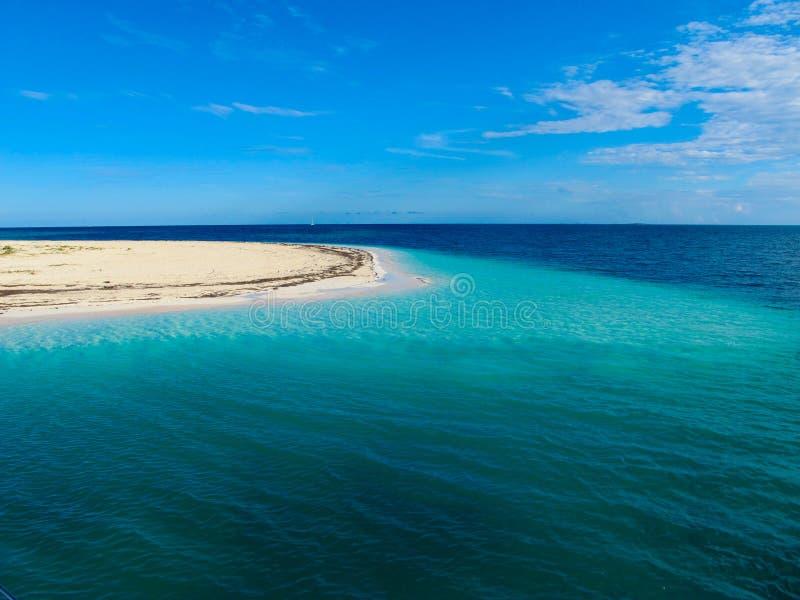 加勒比缓慢地cayo古巴paraiso playa海运 库存图片