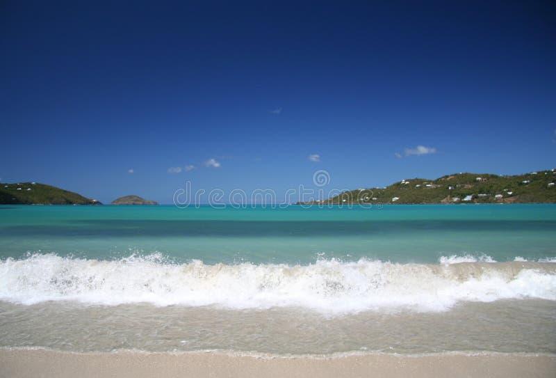 加勒比飞溅 库存图片