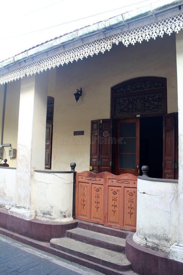 加勒,斯里兰卡城市视图  免版税图库摄影
