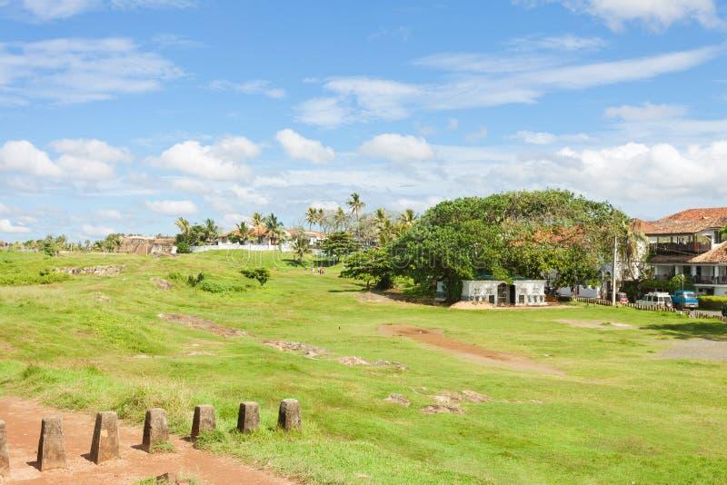 加勒,斯里兰卡-在历史镇内的传统生活 免版税图库摄影