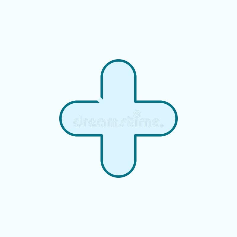 加号2种族分界线象 简单的色素例证 加号概述从在蓝色设置的网象的标志设计 向量例证