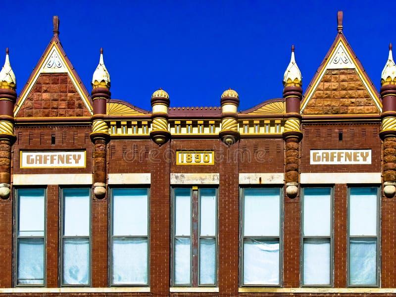 加夫尼大厦, 1890,维多利亚女王时代的商业建筑学 免版税库存照片