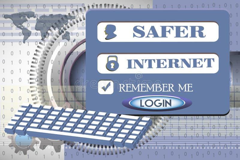 更加安全的互联网 向量例证