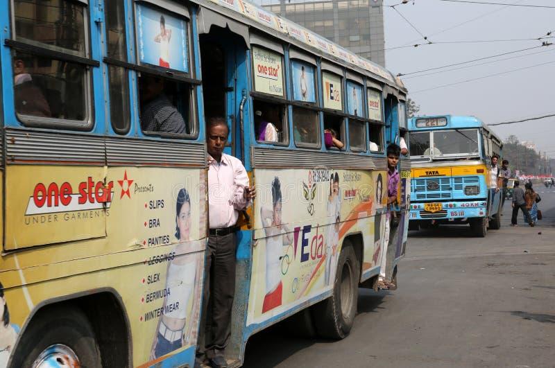 加尔各答公共汽车 免版税库存照片