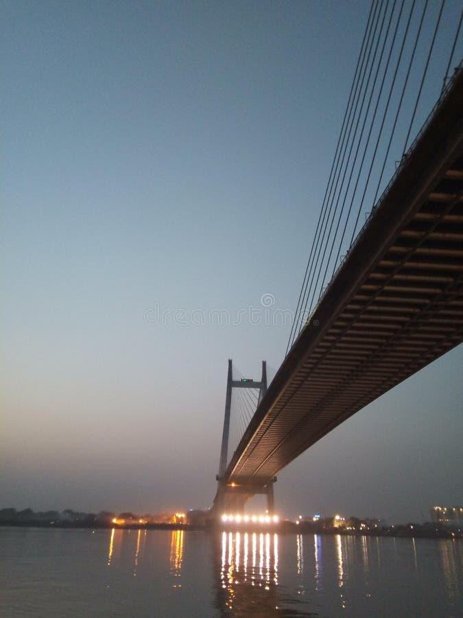 加尔各答桥梁 库存图片