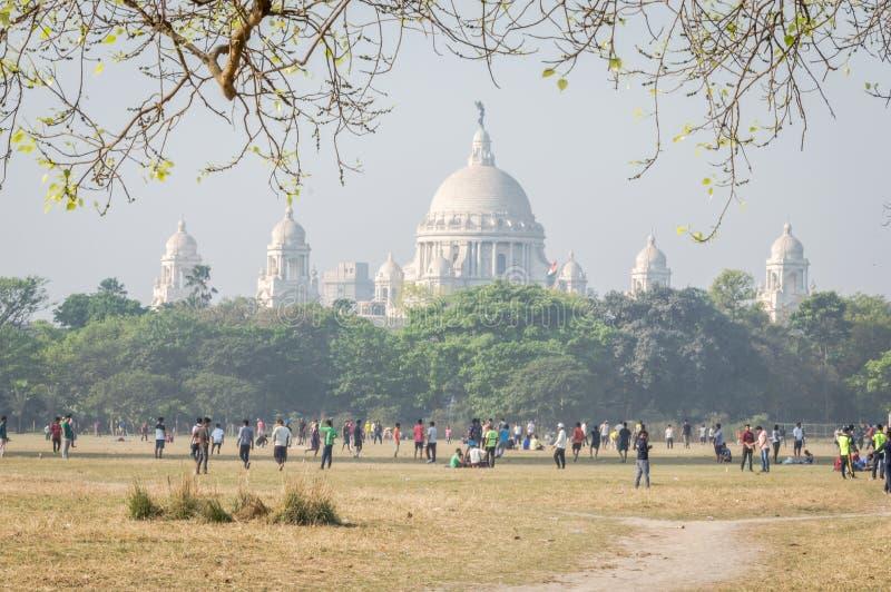 加尔各答Maidan,加尔各答,加尔各答,西孟加拉邦,印度 免版税库存图片