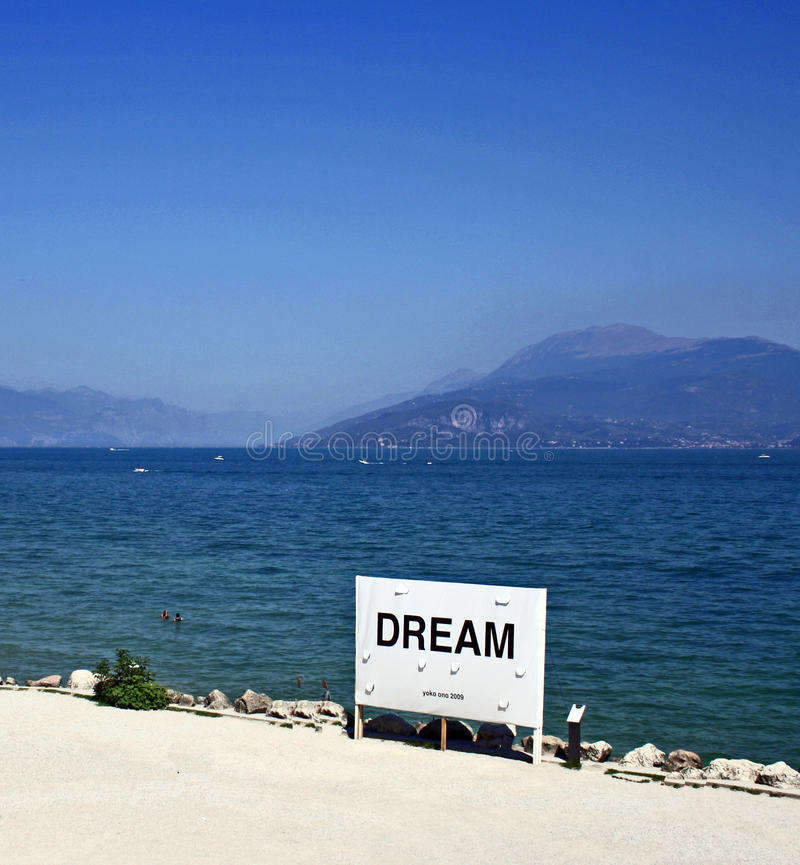 加尔达湖梦想 免版税库存照片