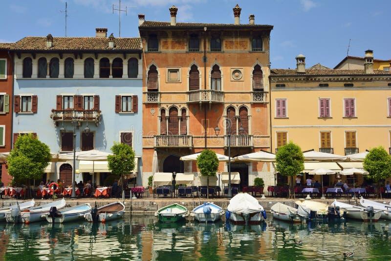 加尔达湖的,意大利Desenzano del加尔达镇 免版税库存照片