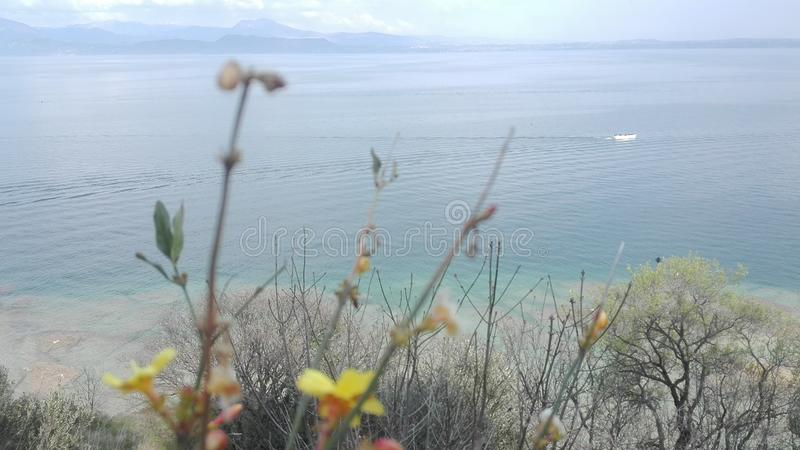 加尔达湖 库存照片