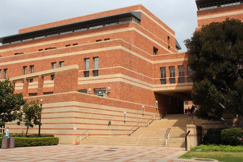 加州大学洛杉矶分校安徒生毕业生管理学校在洛杉矶 图库摄影