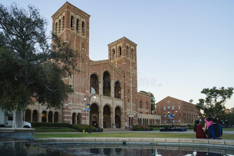 加州大学洛杉矶分校的罗伊斯霍尔 库存照片
