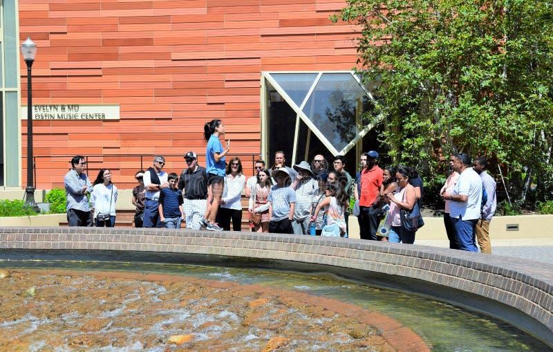 加州大学洛杉矶分校校园游览  免版税库存图片