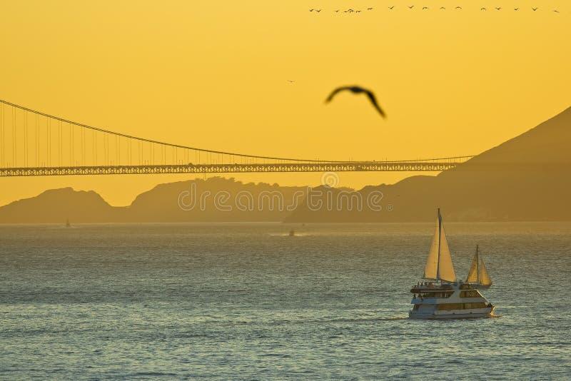 加州弗朗西斯科・圣日落 免版税库存图片