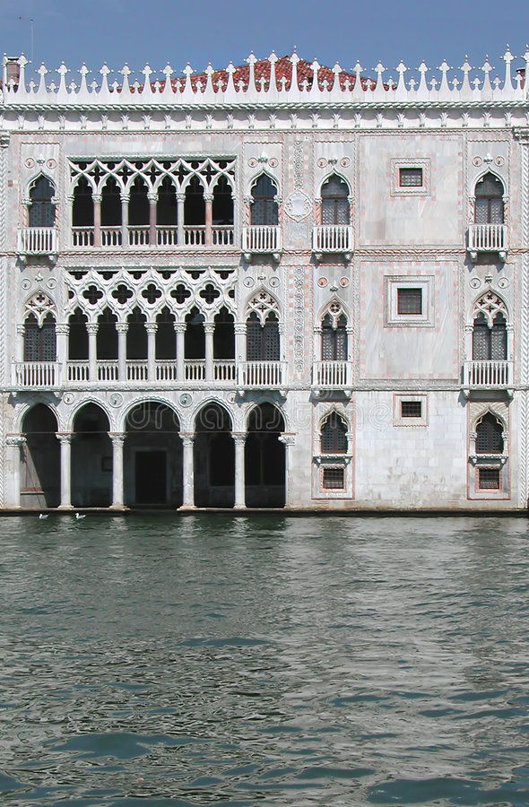 加州d意大利oro宫殿威尼斯 免版税库存照片