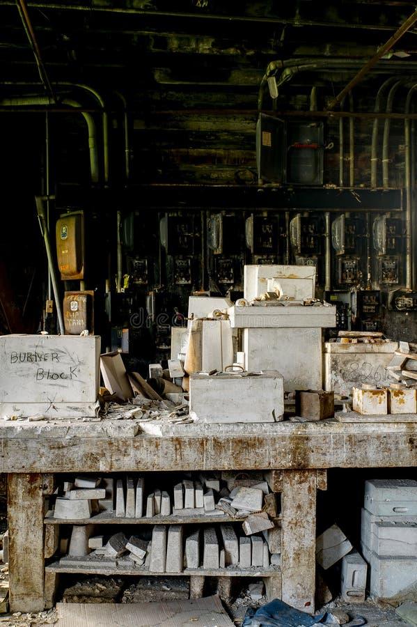 加工困难的工业模子-被放弃的新的城堡耐火,新的城堡,宾夕法尼亚 图库摄影