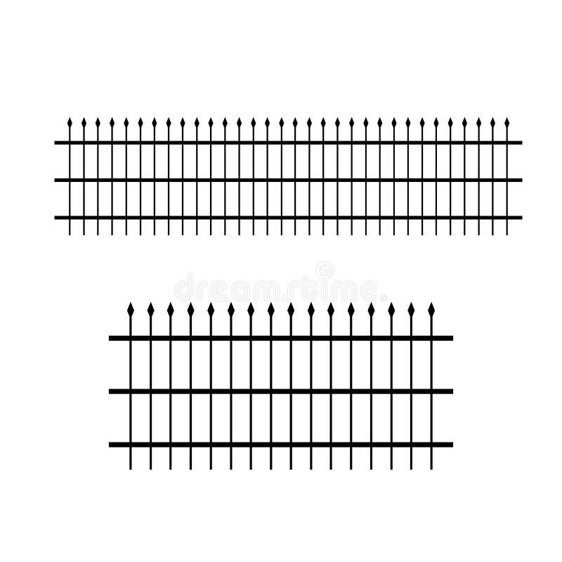 加工铁被仿造的篱芭 库存例证
