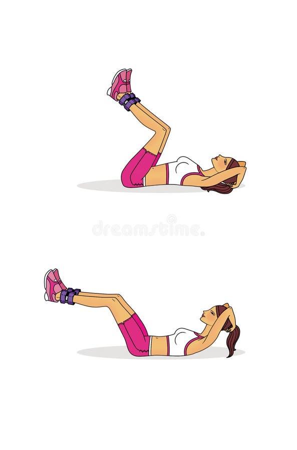 加强新闻的锻炼 说谎在后面和使用与加重剂的锻炼 ?? : 向量例证
