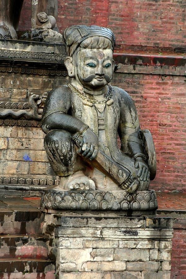 加德满都尼泊尔雕象 免版税库存图片