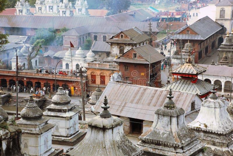 加德满都尼泊尔pashupatinath 库存照片