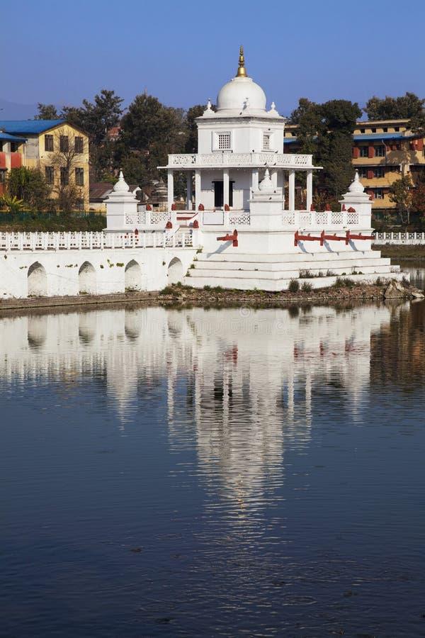 加德满都尼泊尔pokhari rani寺庙 库存照片