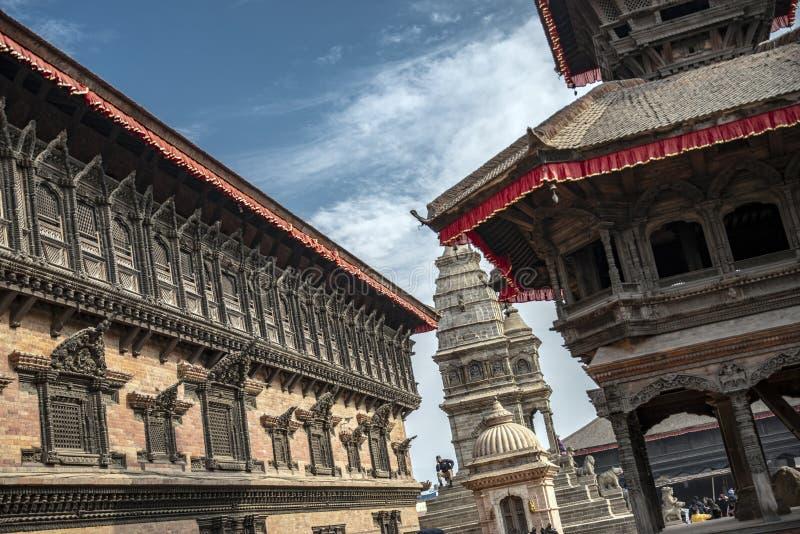 加德满都的Durbar广场在尼泊尔 图库摄影
