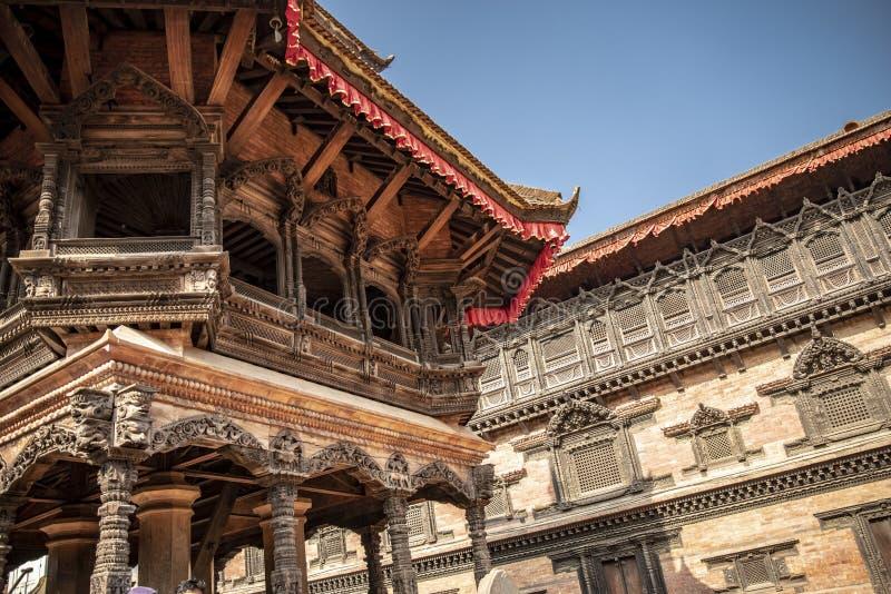 加德满都的Durbar广场在尼泊尔 免版税库存图片