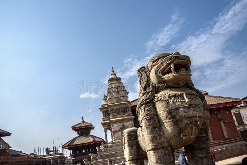 加德满都的Durbar广场在尼泊尔 免版税库存照片