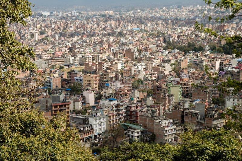 加德满都都市风景 免版税库存图片