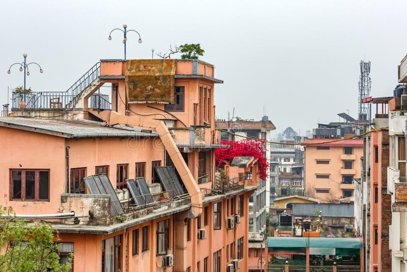 加德满都都市风景  免版税图库摄影
