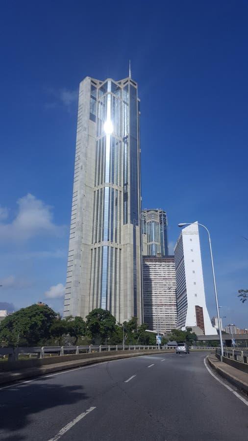 加拉加斯中央公园摩天大楼 免版税库存图片