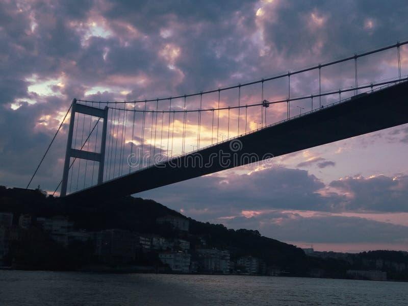 加拉塔桥梁 库存照片