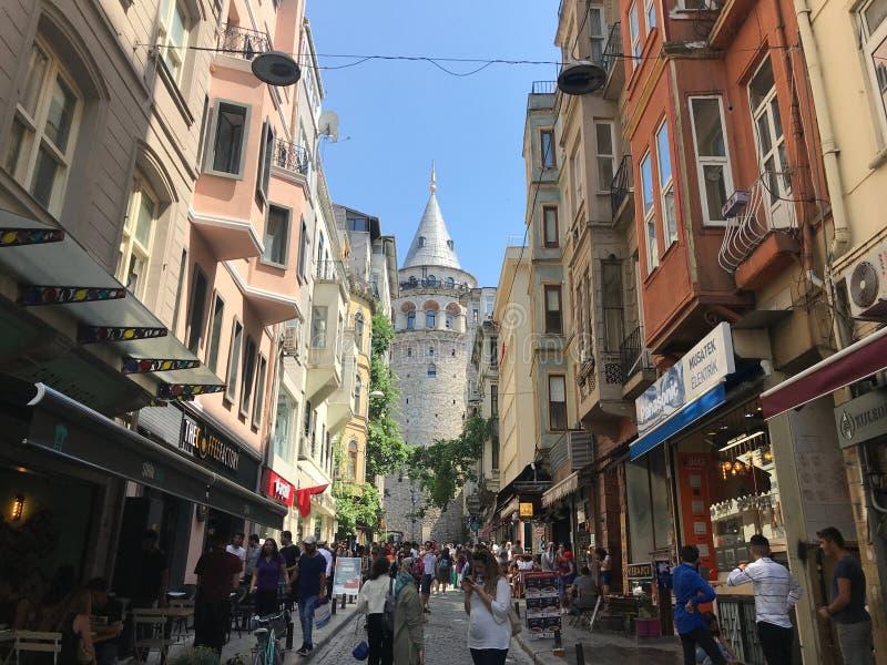 加拉塔石塔,伊斯坦布尔,土耳其 2019?6? 图库摄影
