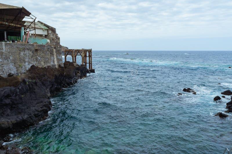 加拉奇科镇,特内里费岛,加那利群岛,西班牙海洋水池  库存照片