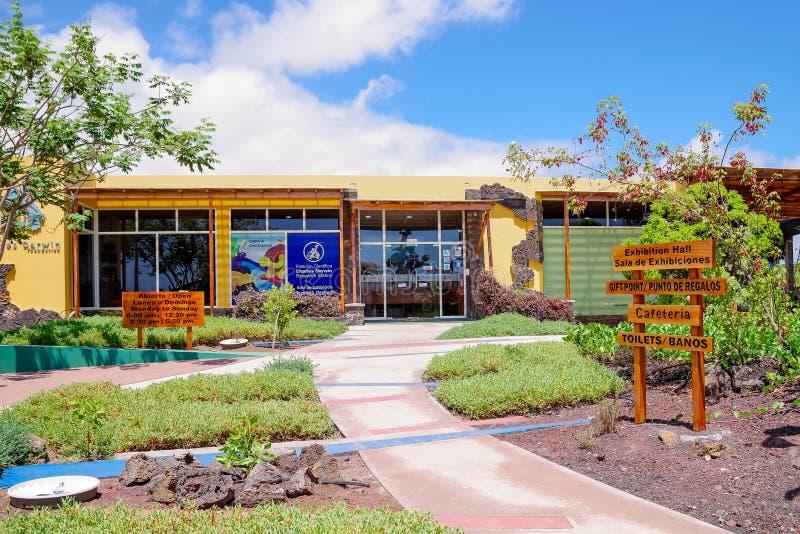 加拉帕戈斯,厄瓜多尔,2018年11月29日:查尔斯・达尔文研究工作站 驻地在1959年建立了,在下 库存图片