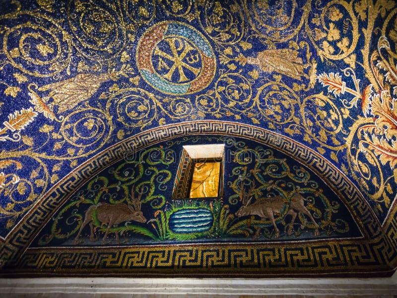 加拉・普拉西提阿陵墓适当位置在拉韦纳 免版税库存图片