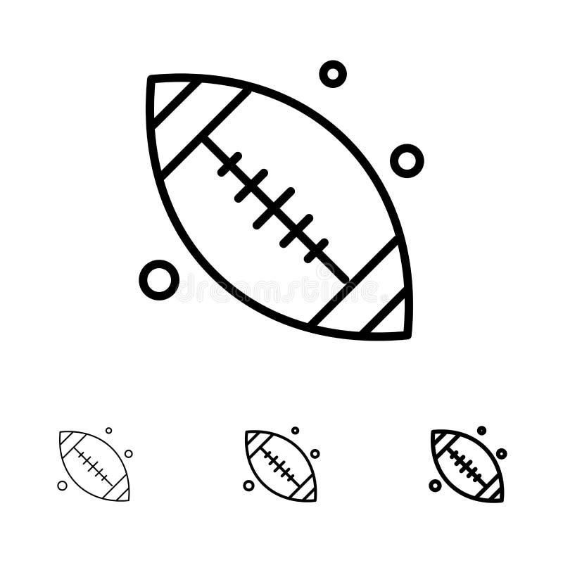 加拿大、球、基本的球,加拿大球大胆和稀薄的黑线象集合 库存例证