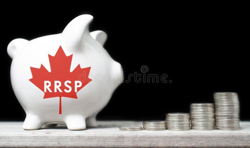 加拿大人登记的退休储蓄计划 免版税库存照片