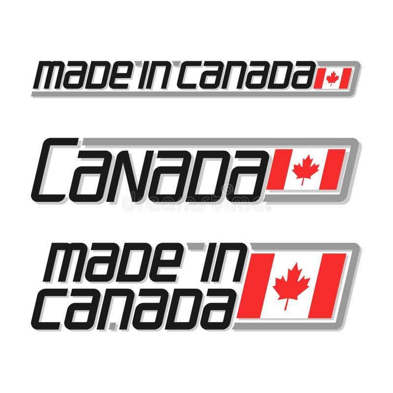 加拿大做 库存例证