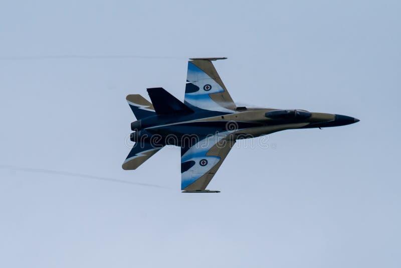 加拿大军用喷气机 免版税库存照片
