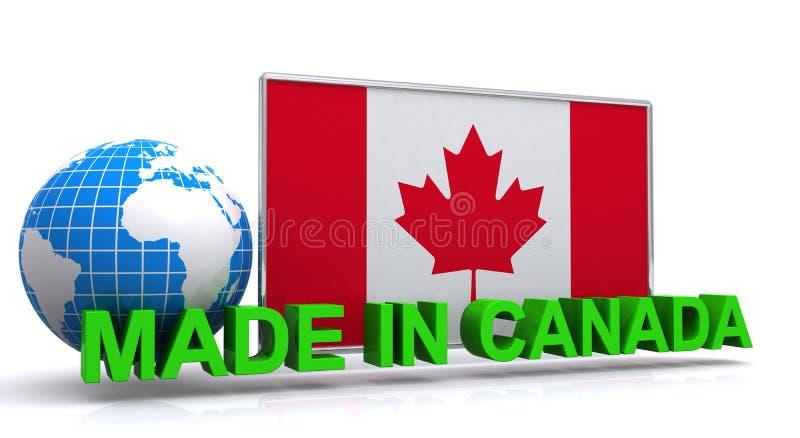 加拿大制造图表 向量例证