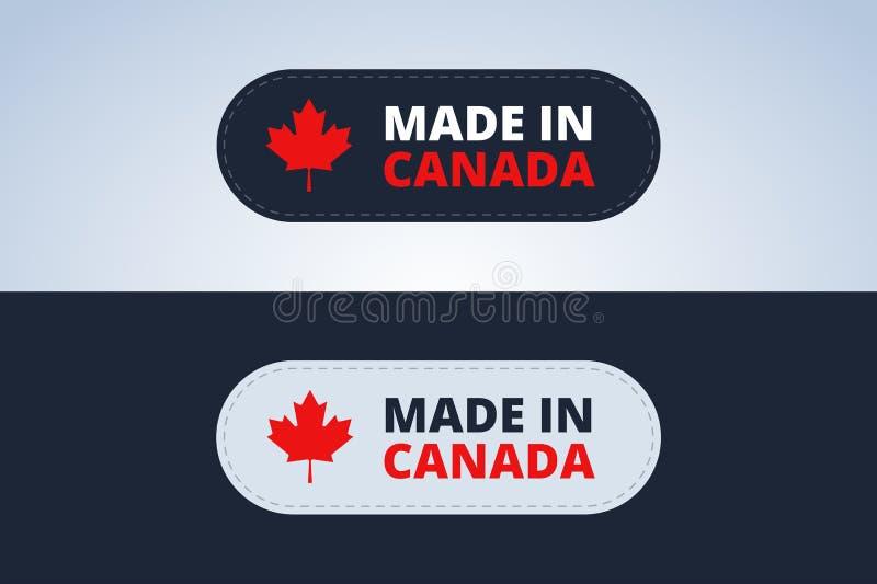 加拿大制造徽章 库存例证