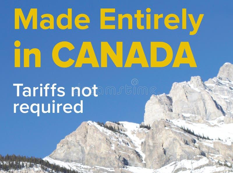 加拿大制造-没有需要的关税 免版税库存照片