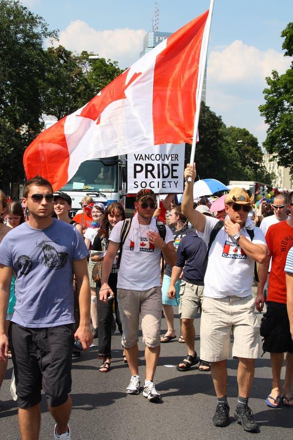 加拿大同性恋者 库存照片