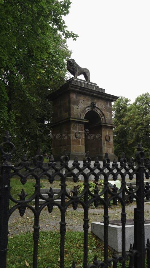 加拿大哈利法克斯:威尔斯福德帕克纪念碑是北美唯一的克里米亚战争纪念碑,加拿大新斯科舍省 免版税库存图片