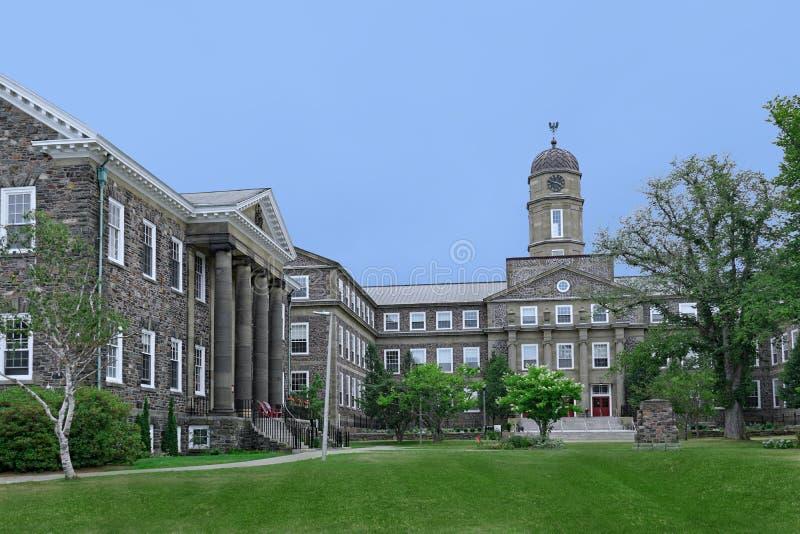 加拿大哈利法克斯-达尔豪西大学。加拿大哈利法克斯-位于山顶上的达尔霍西大学是加拿大最古老〠库存图片
