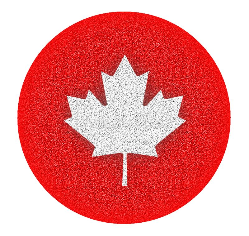 加拿大嗯-风格化枫叶 免版税库存照片