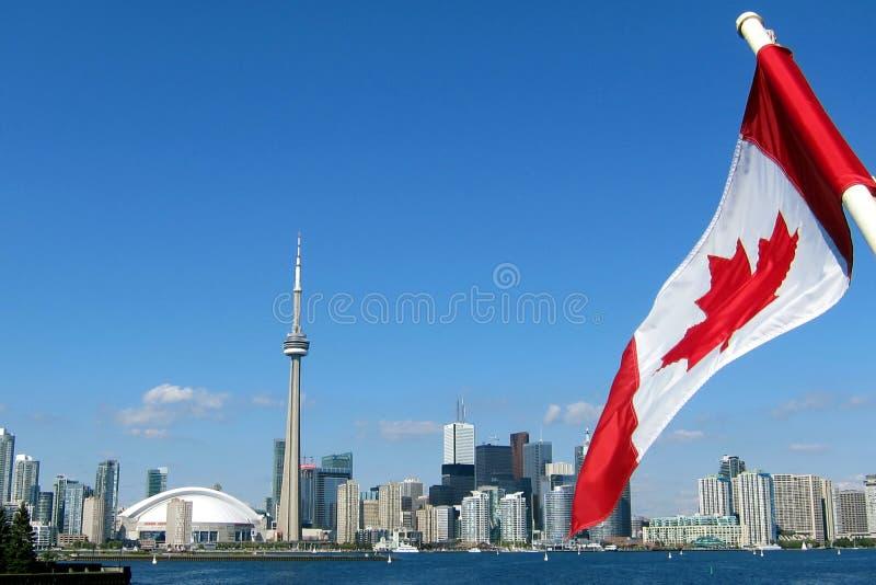 加拿大国家电视塔在多伦多 免版税库存图片