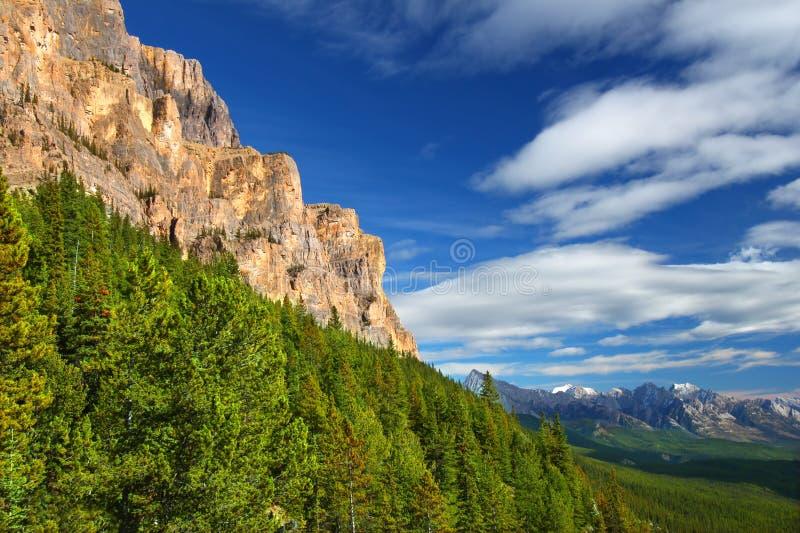 加拿大城堡山景 库存照片